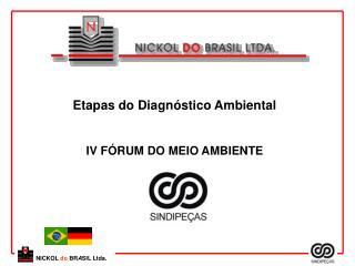 Etapas do Diagnóstico Ambiental IV FÓRUM DO MEIO AMBIENTE