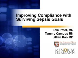 Improving Compliance with Surviving Sepsis Goals
