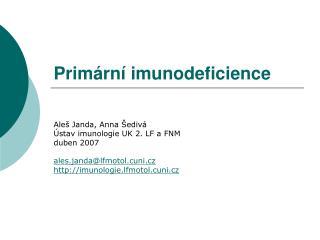Prim rn  imunodeficience