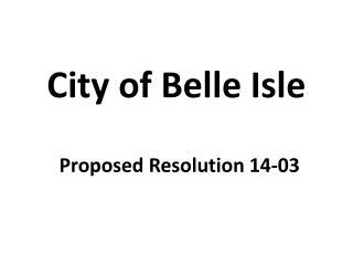 City of Belle Isle