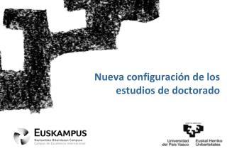 Nueva configuraci�n de los estudios de doctorado