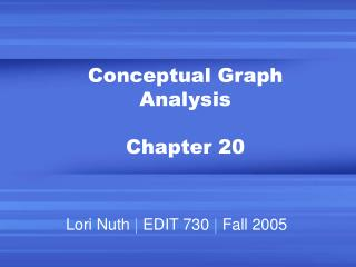 Conceptual Graph Analysis Chapter 20