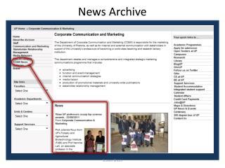 N ews  Archive