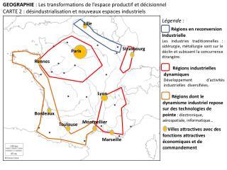 Régions industrielles dynamiques Développement d'activités industrielles  diversifiées.
