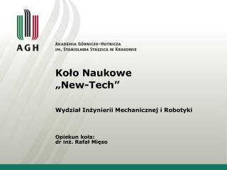 "Koło Naukowe ""New-Tech"""