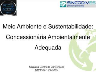 Meio Ambiente e Sustentabilidade: Concessionária Ambientalmente Adequada