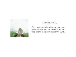 CHER(E) AMI(E),