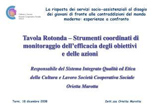 Responsabile del Sistema Integrato Qualità ed Etica