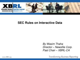 SEC Rules on Interactive Data