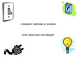 COMMENT  OBTENIR  LE  SCHEMA  D'UN  MONTAGE  ELECTRIQUE?