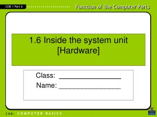 1.6 Inside the system unit  [Hardware]