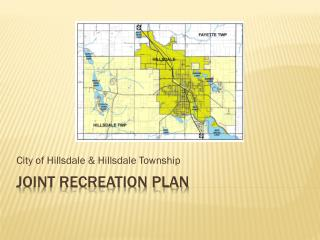 Joint Recreation Plan