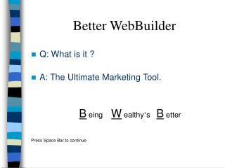 Better WebBuilder