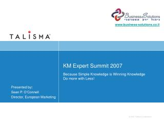 KM Expert Summit 2007