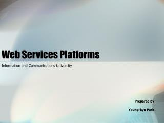 Web Services Platforms