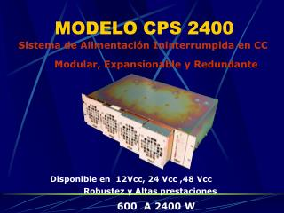 MODELO CPS 2400