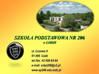 SZKOŁA PODSTAWOWA NR 206 w ŁODZI
