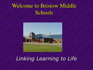 Welcome to Bristow Middle Schools