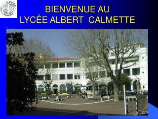 BIENVENUE AU  LYC É E ALBERT  CALMETTE