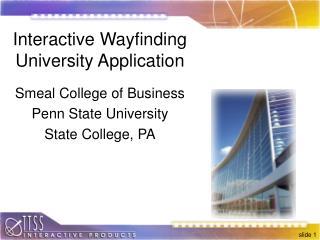 Interactive Wayfinding  University Application