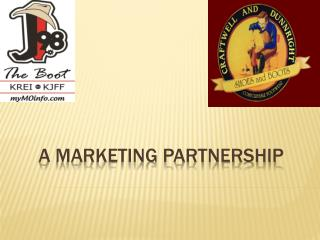 A Marketing Partnership