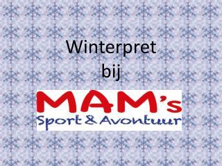 Winterpret bij