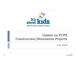 Update on FCPS  Construction/Renovation Projects