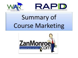 Summary of  Course Marketing