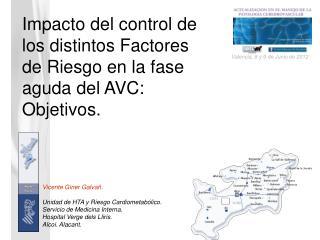 Impacto del control de los distintos Factores de Riesgo en la fase aguda del AVC: Objetivos.