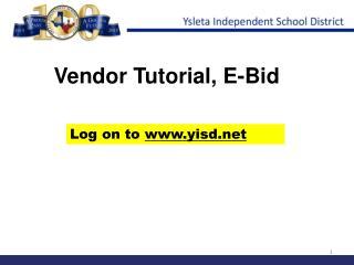Vendor Tutorial, E-Bid