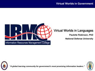 Virtual Worlds in Government