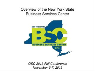Overview of the New York State Business Services Center