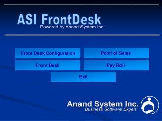 Front Desk Configuration