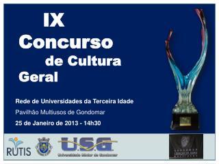 IX Concurso        de Cultura Geral