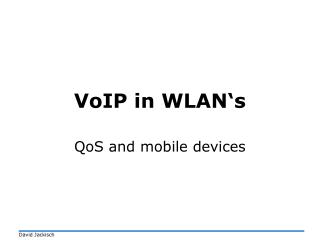 VoIP in WLAN