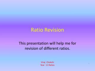 Ratio Revision