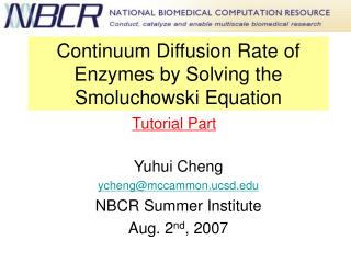 Continuum Diffusion Rate of Enzymes by Solving the Smoluchowski Equation