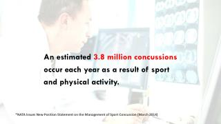 An estimated  3.8 million concussions occur each year as a result of sport  and physical activity.