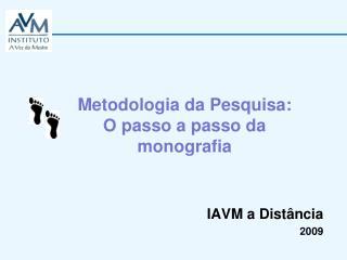IAVM a Distância 2009