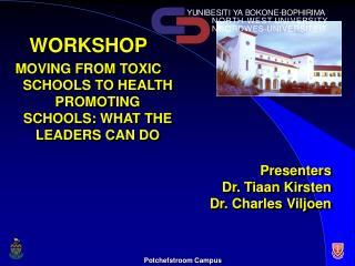 Presenters Dr. Tiaan Kirsten Dr. Charles Viljoen