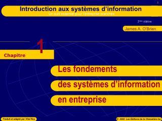 Les fondements des systèmes d'information en entreprise