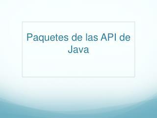 Paquetes de las API de Java