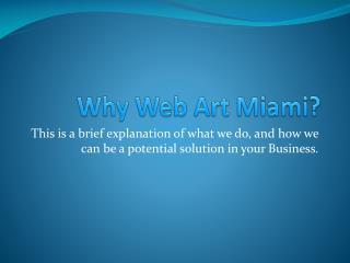 Why Web Art Miami?