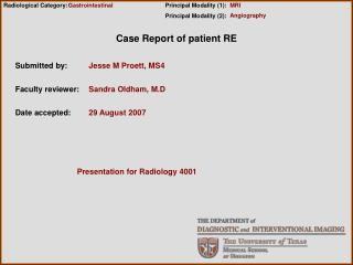 Case Report of patient RE