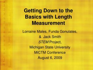 Getting Down to the  Basics with Length Measurement
