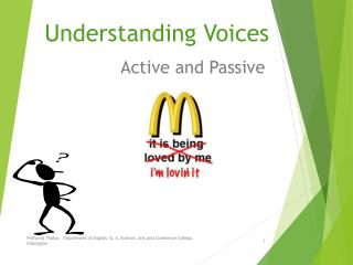 Understanding Voices