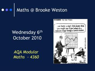 Maths @ Brooke Weston