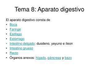 Tema 8: Aparato digestivo