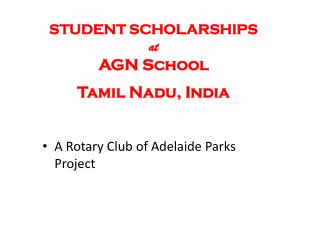 A Rotary Club of Adelaide Parks  Project