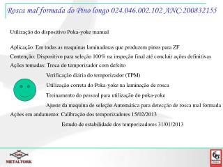 Rosca mal formada do Pino longo 024.046.002.102 ANC:200832155